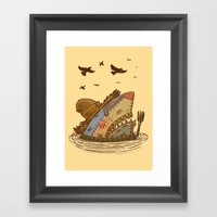 The Scarecrow Shark Framed Art Print