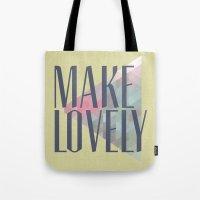 Make Lovely // Leaf Tote Bag