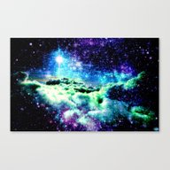 Galaxy Clouds Canvas Print