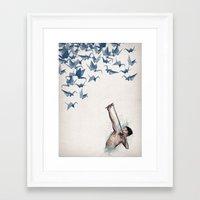 Framed Art Print featuring Lucky Shot by David Fleck