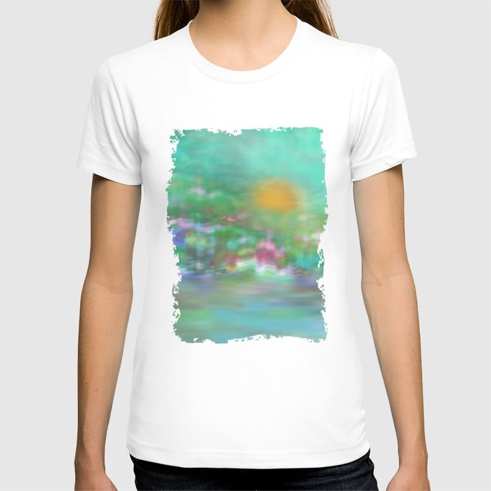 Landscape in pastel colors t shirt by klara acel society6 for Pastel colored men s t shirts