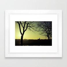 Derry Silhouette Framed Art Print