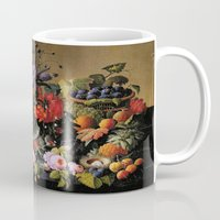 Vintage Varnish- Flowers&Fruit Mug