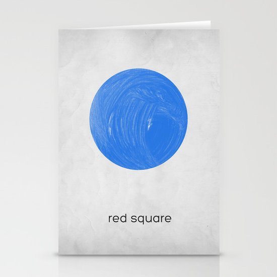 red square Stationery Card