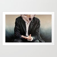 rabbit Art Prints featuring the politician by karien deroo