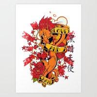 Dragon feel Art Print