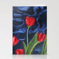 Tulips Are Red... Stationery Cards