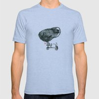Chick On Speed Mens Fitted Tee Athletic Blue SMALL
