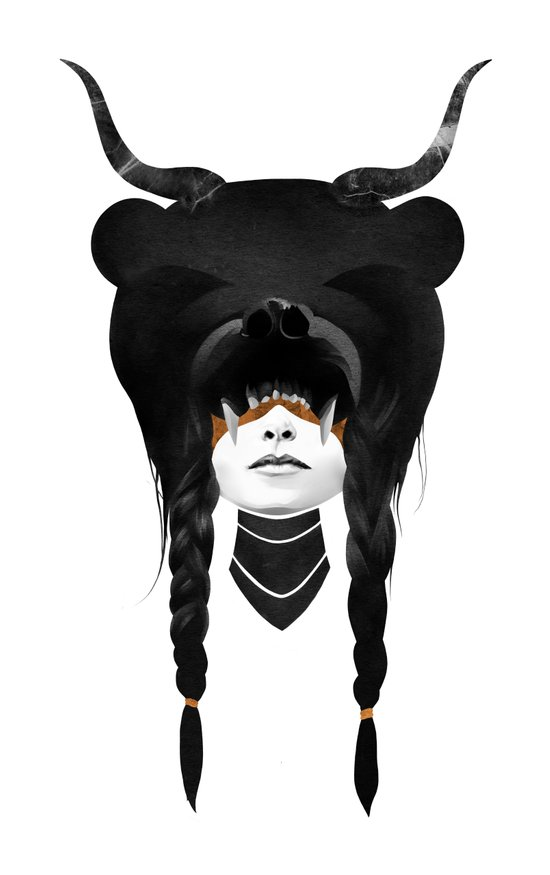 Bear Warrior Canvas Print