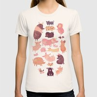 Pig Pig Pig  Womens Fitted Tee Natural SMALL