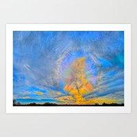 Sun Dogs And Desert Visi… Art Print