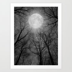 May It Be A Light (Dark Forest Moon) Art Print