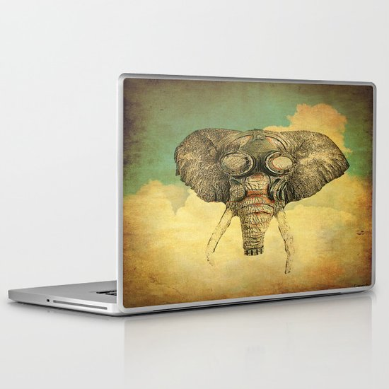 Gas mask for elephant Laptop & iPad Skin