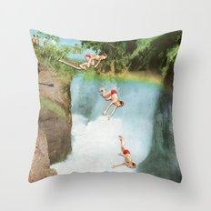 Diving Board Throw Pillow