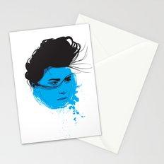 Black, blue & white I Stationery Cards