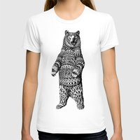 flag T-shirts featuring Ornate Grizzly Bear by BIOWORKZ