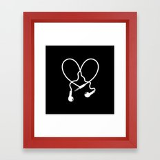 Love Music Headphones Framed Art Print