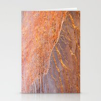 Travertine - Orange Stationery Cards