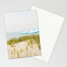 Blue Beach Umbrellas Stationery Cards