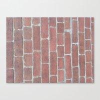 Soft Rock Brick Front Canvas Print
