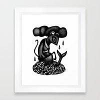 Mouse in a Teacup Framed Art Print