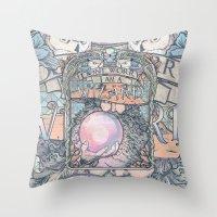 Wizard print Throw Pillow