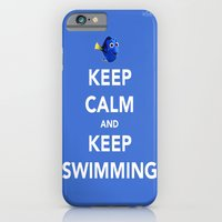 Keep Calm And Keep Swimming iPhone 6 Slim Case