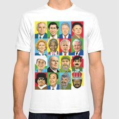 select your politic SMALL White Mens Fitted Tee