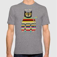 Cool Cat Mens Fitted Tee Tri-Grey SMALL