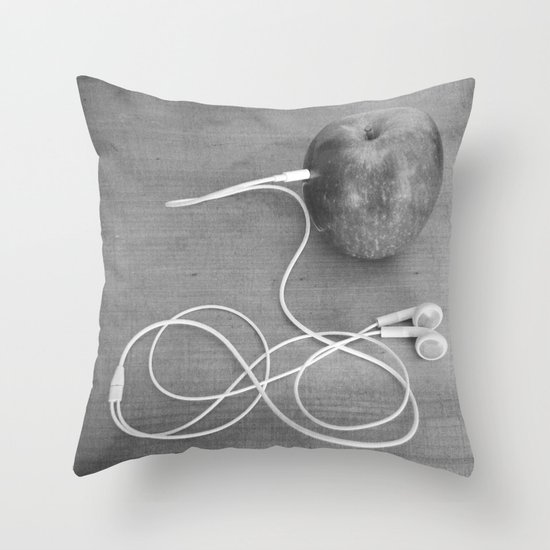 Wrong Apple Throw Pillow