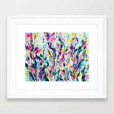 Rise - Abstract Flowers Framed Art Print
