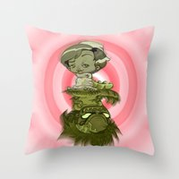 Contraction Throw Pillow