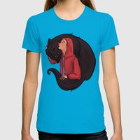 Don't Be Such a Sourwolf Womens Fitted Tee Teal SMALL