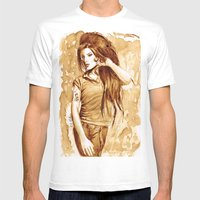 A Little Amy In My Coffe… Mens Fitted Tee White SMALL