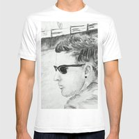 B/W I am not famous Mens Fitted Tee White SMALL