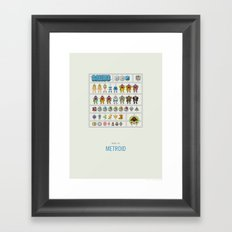 Metroid Model Kit Framed Art Print