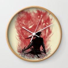 Ronin Versus Oni Wall Clock