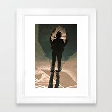 shadow shy Framed Art Print