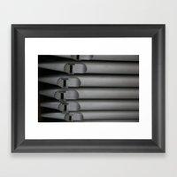 organ pipe Framed Art Print