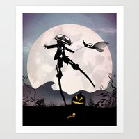 Jack Skellington Kid Art Print