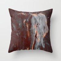 DARK ELEPHANT Throw Pillow