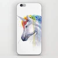 Rainbow Unicorn Watercolor iPhone & iPod Skin