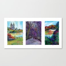 Central Park Trio Canvas Print
