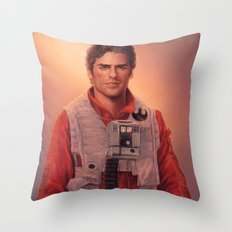 black leader. Throw Pillow