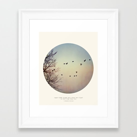 Caged Birds Framed Art Print