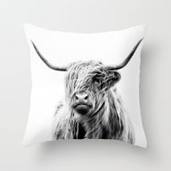 Portrait Of A Highland C… Throw Pillow