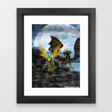 Dragon Knight Framed Art Print