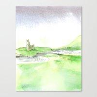 Watercolor Ardvreck Castle Canvas Print