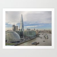 View From Tower Bridge London Art Print