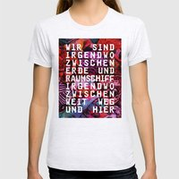 GLÜCK & BENZIN Womens Fitted Tee Ash Grey SMALL